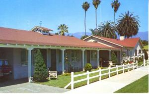 Edgewater Beach Motel Santa Barbara CA Motels W. Mason St. Vintage Postcard D1