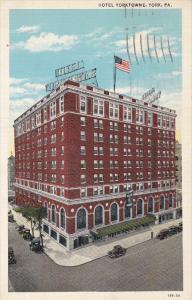 YORK, Pennsylvania, PU-1937; Hotel Yorktowne