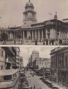 Johannesburg Town Hall & Eloff Street 2x Vintage Real Photo Postcard s