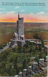 Colorado Colorado Springs Will Rogers Shrine Of The Sun Cheyenne Canon