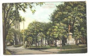 Place viger and Statue Chenier, Montreal, Canada, PU_1907