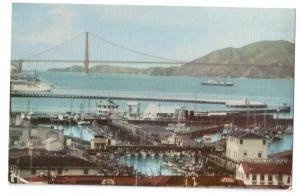 Union Oil 76 Postcard 1941 Fishermans Wharf San Fran CA #141