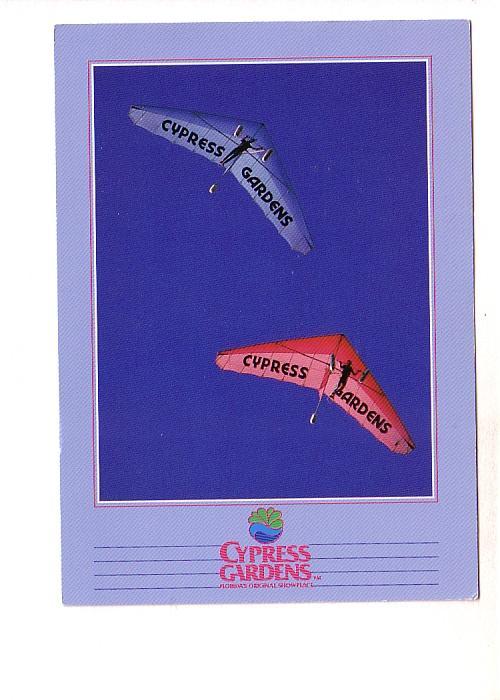 People Flying Delta Wing Kites, Cypress Gardens, Florida,
