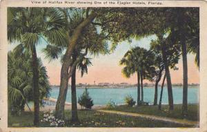 Florida Miami View Of Halifax River Showing One Of The Flagler Hotels 1923