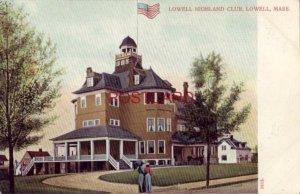 pre-1907 HIGHLAND CLUB, LOWELL, MASS.