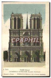 Postcard Old Paris Cathedrale Notre Dame Northwest Together