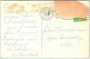 Vintage Denison, Texas Postcard KRAFT-PHOENIX CHEESE CORP. Linen / 1939 Cancel