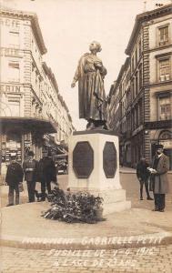 Brussels Belgium Monument Gabrielle Petit Real Photo Antique Postcard J40120
