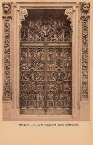 MILANO, Italy, 1900-10s; La Porta maggiore della Cattedrale