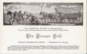The Conestoga Wagon by Malcolm Parcell Mural Depicting Early Travel The National