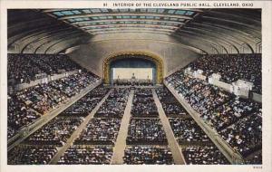Interior Of The Cleveland Public Hall Cleveland Ohio