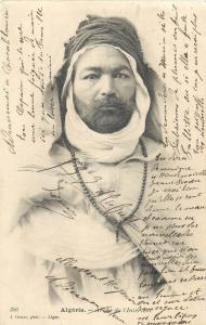 Algerian infantry warrior J. Geiser photo postcard