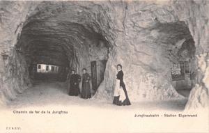 JUNGFRAUBAHN EIGERWAND SWITZERLAND CHEMIN de FER de la JUNGFRAU POSTCARD 1900s
