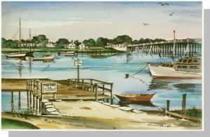 Hyannis, Mass/MA Postcard,Bass River Bridge/Robert Brooks