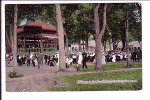 Lots of People at Band Stand, Dominion Park, Montreal Quebec,