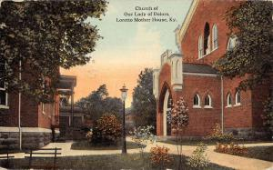 Loretto Kentucky Mother House Church Our Lady Dolors Antique Postcard K80923