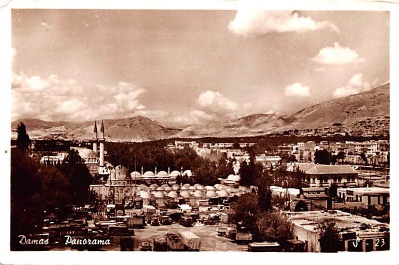 Damas, Lebanon Postcard, Carte Postale Panorama Damas Panorama