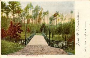NH - Manchester. Pine Island Park, The Bridge
