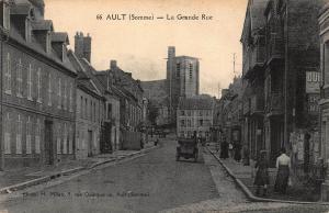 France Ault La Grande Rue Vintage Car Street Postcard