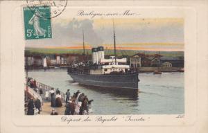 BOULOGNE-sur-MER , France , 00-10s ; Depart du Paquebot Invicta