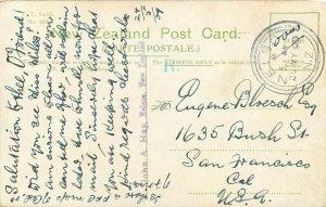 Vintage Postcard Pateena Passenger Ship Leaving Nelson New Zealand South Island