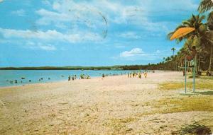 Mayaguez Puerto Rico Boqueron Beach Scene Antique Postcard K30642