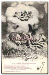 Old Postcard Fun Children Noel Little Chimney Sweep