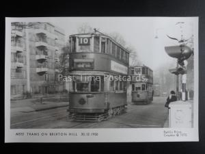 London Tram TRAMS ON BRIXTON HILL c1950 Pamlin Print Postcard M513