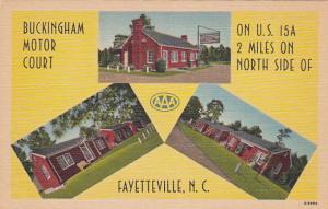 Buckingham Motor Court , U.S. 15 , FAYETTEVILLE , North Carolina , 30-40s
