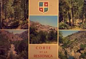 POSTAL 56510: Corte et la Restonica Corse