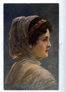226711 FASHION Head Woman BELLE by MUTTICH vintage PC