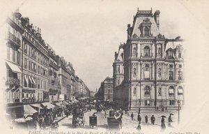 PARIS, France,1910-1920s, Perspective de la Rue de Rivoli et de la Rue Saint-...