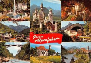 Germany Grosse Alpenfahrt Bayrische Alpen Schloss Linderhof Castle Brucke