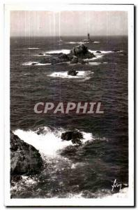 Old Postcard Pointe Du Raz (Finistere) Very Violent tub Causes By meeting of ...