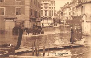 BR73664 chariot  luzern hochwasser juni 1910 flood switzerland