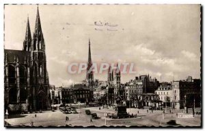 Old Postcard Rouen Place du General de Gaulle