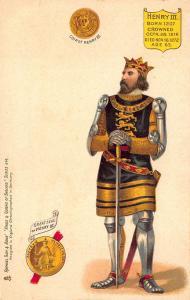 Raphael Tuck Kings and Queens of England King Henry III Postcard