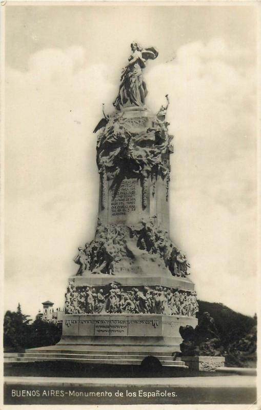 Buenos Aires Argentina Monument Real Photo Postcard