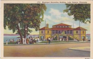 Wisconsin Lake Geneva Municipal Recreation Building Curteich