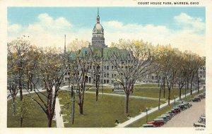 LPS90 WARREN Ohio Court House Park Postcard