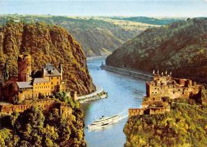 Der Schoene Rhein Rock Valley of the Loreley Schiff River Boat Castle