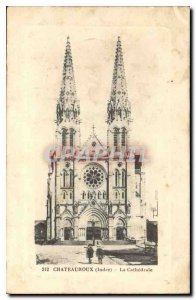 Old Postcard Chateauroux Indre Cathedrale