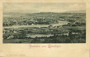norway norge, TRONDHEIM TRONDHJEM, Panorama (1899) Postcard