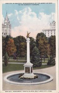 Utah Salt Lake City Erected In Greateful Remebrance Of The Mercy Of God To Th...