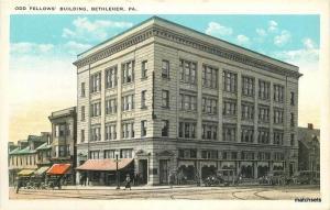 Odd Fellows Building Bethlehem Pennsylvania Lehigh Tichnor postcard 10577