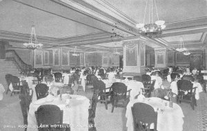 LOS ANGELES, CA California  CLARK HOTEL~Grill Room Interior  1914 B&W Postcard