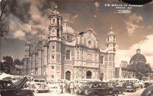 Basilica de Guadalupe Mexico Tarjeta Postal Writing on back, Real Photo