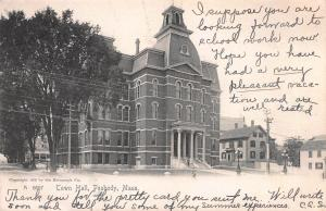Town Hall, Peabody, Massachusetts, Early Postcard, Used in 1905