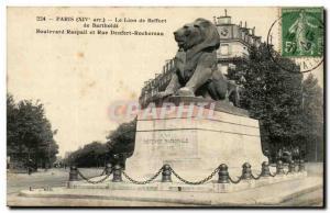 Paris (14) -The Lion of Belfort-Work of Bartholdi Place Denfert-Rochereau, Th...