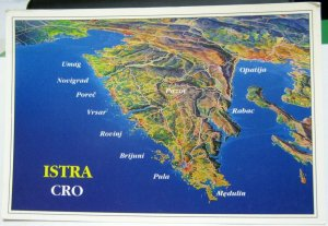 Croatia map Istria - unposted